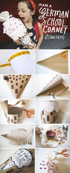 Etsy's DIY back-to-school treats cone is guaranteed to delight your little scholar. #etsy #DIY - I love this tradition