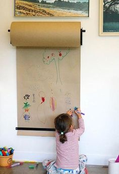 If you have a child you know their art and craft projects tend cover every horizontal surface in your home. Creating a place for your child to make and store ma