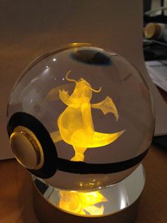 Dragonite Pokemon Pokeball by PokeMasterCrafter on Etsy