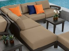 Tropitone Evo Woven Wicker 6 Piece Sectional Package by Tropitone. $6361.00. For over 50 years, Tropitone innovation has led to the best in outdoor living. The Topitone Evo Woven comes in wicker finish Kaffee and Shadow. Tropitone is dedicated to selecting the highest quality materials. Hand crafted and hand finished aluminum frames. Maintenance free Sunbrella cushions. The Tropitone Evo Woven Wicker 6-Piece Sectional Package gives you all of the comfort and functionality that ...