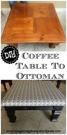 Easy DIY Coffee Table to Ottoman Tutorial