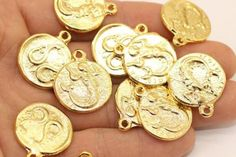 Buy Now Shiny Gold Plated Coins mm Gold Pendant double. Coin Pendant, Gold Coins, Buy Now, Plating, Pendants, Stuff To Buy, Etsy, Hang Tags, Pendant
