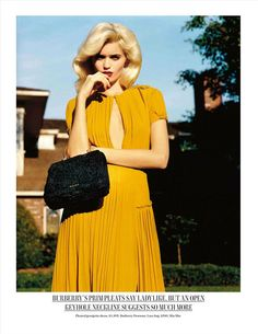 PH: Alasdair Mclellan/ Vogue UK March 2012 Model: Abbey Lee Kershaw