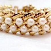 www.bitzofglitz.co  FAux pearl vinage bracelet  30.00  15% off will refund