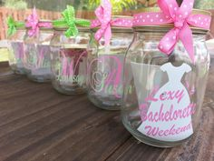 Your place to buy and sell all things handmade Monogrammed Glasses, Monograms, Party Favors, Initials, Bridesmaid, Names, Trending Outfits, Unique Jewelry, Handmade Gifts