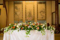 【大正ロマン】和婚装花 文化財料亭開花亭 Japanese, restaurant, Ryotei,spring,April,wedding