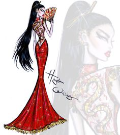 Red Carpet Glam: 'Unleashed Dragon' by Hayden Williams. Inspired by tonight's #MetGala theme China: Through the Looking Glass