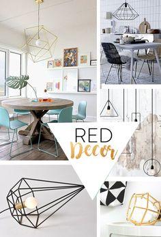 Hoy os traemos unas ideas para iluminar vuestros hogares. Las lámparas geométricas son tendencia y su diseño parece encajar a la perfección en el estilo vintage y en el nórdico. Aquí las tenemos a un precio más que competitivo, 48€. Entra en Reddecor.es y elije el color que te venga mejor. #vintage #vintagestyle #style #industrialdesign #industrial #influencer #decoracion #decoideas #design #deco #interiordesign