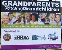 """""""Grandparents Raising Grandchildren"""" is especially for our community's elders trying to keep up with the day-to-day details of their grandkids' lives, and will offer information from housing, parenting, safety, legal rights, and other expert assistance in resolving grand parenting issues.  Call County of San Diego Aging and Independence Services 1-800-510-2020 for more information."""