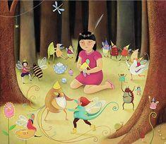 By Louise Ellis, Jacqueline Tea-Party Giclée-Druck skurrilen Kunst Kinder Whimsical Art, Frogs, Fine Art Paper, Elves, Fairies, Tea Party, Giclee Print, Original Artwork, Disney Characters