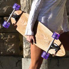 personalised handmade oak 70's longboard by nudie boards | notonthehighstreet.com