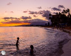 In this week's edition of Photo Friday, I'm sharing just a tiny sliver of our Hawaiian vacation with you - one evening's sunset on Waikiki beach.