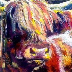 Jane Birrell, Artist | Highland Cow Portraits