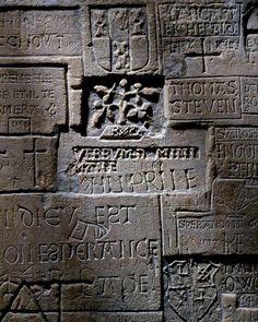 Historic graffiti at the Tower of London