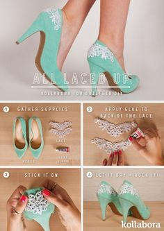 Artesanato Decor e Culinária: Customize o sapato