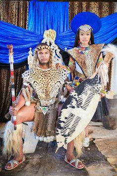Zulu king and queen