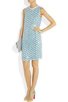 Diane Von Furstenberg Yvan Sequined Silk Dress