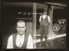 George Whitehall, carpenter, handed himself into Newtown police after hacking to death his common-law wife, Ida Parker on Thursday afternoon 21 February 1922, at their home in Pleasant Avenue, Erskineville. This photo was apparently taken the following morning at Newtown Police Station.
