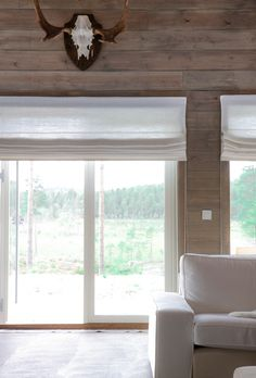 dobble liftgardiner - Google Search Blinds For Windows, Window Panels, Panel Curtains, Cabin Curtains, Shades Blinds, Window Dressings, Shutters, Interior, Room