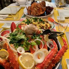 How my family started 2017: feasting on Alaskan King Crab lobsters turkey and pancit.  - - #food #foodporn #foodie #foodgasm #foodpics #foodpic #foodstagram #yum #yummy #delicious #delish #foodblogger #instafood #foodies #seafood #fresh #turkey #family #amazing #instagood #photooftheday #fresh #tasty #foodpic #foodpics #eat #hungry #foodgasm