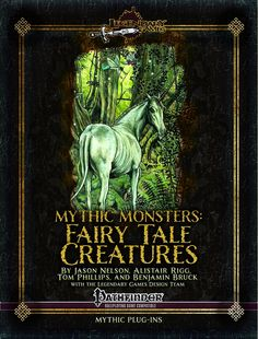 Mythic Monsters: Fairy Tale Creatures - Legendary Games | From blarney-filledleprechaunsand luminouspixiesto terriblebansheeskeening their anguish and whether bringing succor like aunicornor murderous spite like aredcap,these creatures bring the full flavor of the realms of faerie to your campaign. We have hungrygreen hagsready to gobble their victims living or dead alongside flittingfaerie dragonsthat just want to have fun,bogeymenthat use terror as a weapon…