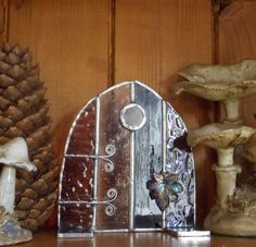 Stained Glass Fairy Door Pixie DoorSun by WylloWytch on Etsy