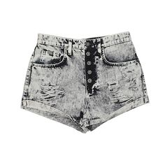 Car Mar Denim Shorts ($44) ❤ liked on Polyvore featuring shorts, bottoms, jeans, pants, beige, cotton shorts, denim shorts, short denim shorts, beige shorts and jean shorts