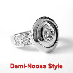 Demi Noosa Style Interchangeable Popper Chunk Snap Charm Ring #2