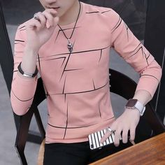 Striped Long Sleeve Shirt, Long Sleeve Shirts, Camisa Polo, Cotton Style, Swagg, Mens Fashion, Stylish, Sleeves, How To Wear