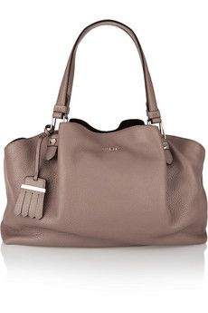 Tod's Flower medium textured-leather tote  | NET-A-PORTER