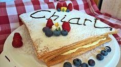 Millefoglie per il compleanno della mia Amica. #Dolci #Dessert Cake, Desserts, Food, Tailgate Desserts, Deserts, Food Cakes, Eten, Cakes, Postres