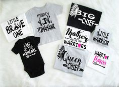 Family Shirts U Pick Colors Boho Style photo birthday reunion daddy and me teepee arrows mama bear mother of warriors big chief brave