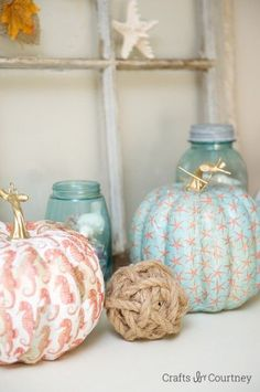 Pumpkin Ideas: Fall Home Tour: Coastal Style!! Crafts by Courtney