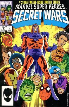 Comic Cover for Marvel Super-Heroes Secret Wars ( Marvel Comic Books, Comic Book Heroes, Comic Books Art, Comic Art, Marvel Characters, Secret Wars 2, Marvel Secret Wars, Hq Marvel, Marvel Heroes