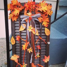 Fall shutter decoration