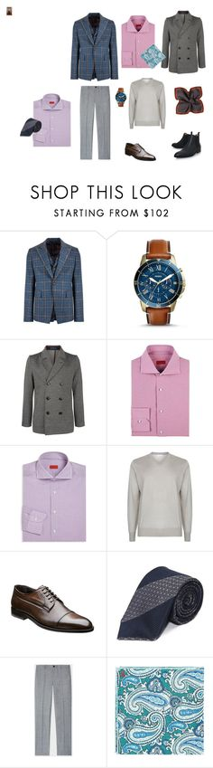 """""""Без названия #16"""" by oksaks on Polyvore featuring Vivienne Westwood Man, FOSSIL, Ted Baker, Isaia, Brunello Cucinelli, Drakes London, PS Paul Smith, Paul Smith, men's fashion и menswear"""