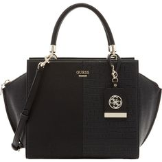 GUESS Casey Satchel Purse Bag Black N s -  a21f0ceabac54