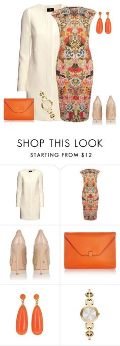 """""""outfit 505"""" by natalyag ❤ liked on Polyvore featuring H&M, Alexander McQueen, Lipsy, Valextra and DKNY"""
