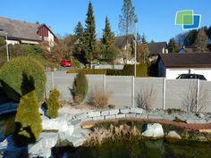 Friedlicher Garten Mit Unserem #WPC #Sichtschutz Und Unseren Neu  Entwickelten Aluminiunpfosten