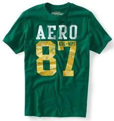 Aeropostale Mens Athletic Graphic Aero Logo T Shirt Tee XS s M L ...