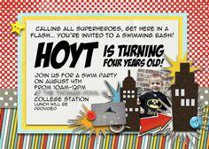 Slightly Askew Designs - Superhero Birthday Party Invitation