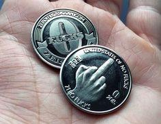Zero F**ks Given Coins Price: $6 USD