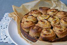 Sei med knuste poteter i eggesmør Apple Pie, Muffin, Diet, Baking, My Favorite Things, Breakfast, Cake, Desserts, Food