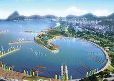 First glimpse of perhaps Olympic docking zone in Rio 2016.   WOWWWWW
