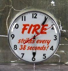 1950's Insurance Agency Advertising Clock