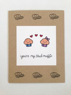 Stud muffin card with bacon and eggs, this is fantastic!