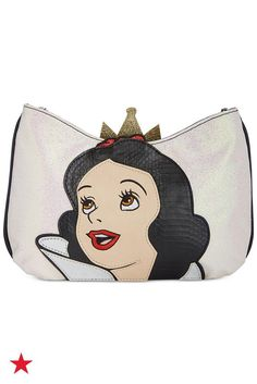Get two clutches in one with Snow White on one side and the Evil Queen on the other. Pick and choose your inner Disney character for the day with your new favorite bag. Shop now at Macy's!