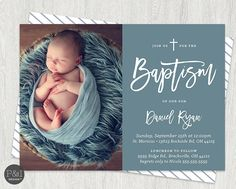 Baby Boy or Girl Baptism Christening by…
