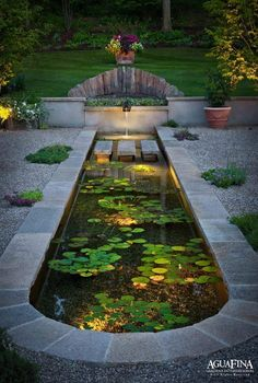 Pond lilly pads is part of garden pond design gardendesign amazing garden ponds Ponds Backyard, Backyard Landscaping, Garden Ponds, Backyard Waterfalls, Garden Pond Design, Patio Design, Indoor Water Fountains, Indoor Pond, Outdoor Fountains