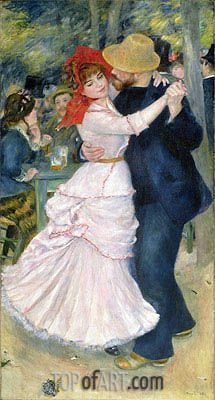 Painting Title: Dance at Bougival, 1883 | Artist: Pierre-Auguste Renoir (1841-1919) | Fine Art Painting Reproduction by TOPofART.com